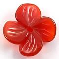 【天然石モチーフビーズ】四枚花 レッドメノウ【天然石 パワーストーン】