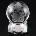 【天然石彫刻置物】彫刻丸玉 七福神 恵比寿 (素彫り) 水晶 20mm【天然石 パワーストーン】