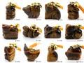 【天然石ストラップ】十二支根付 タイガーアイ (全12種)【天然石 パワーストーン】