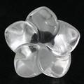 【天然石モチーフビーズ】桔梗 14mm 水晶【天然石 パワーストーン】