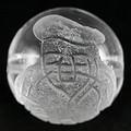 【天然石彫刻ビーズ】水晶 12mm (素彫り) 七福神「大黒天」【天然石 パワーストーン】
