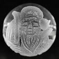 【天然石彫刻ビーズ】水晶 12mm (素彫り) 七福神「福禄寿」【天然石 パワーストーン】