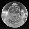【天然石彫刻ビーズ】水晶 12mm (素彫り) 七福神「弁財天」【天然石 パワーストーン】