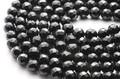 【天然石カットビーズ】トルマリン(ブラック) 64面カット 8mm【天然石 パワーストーン】
