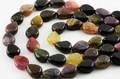 【天然石カットビーズ】トルマリン(マルチ) ドロップ型 8x10mm【天然石 パワーストーン】