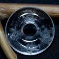 【天然石置き石】ドーナツ型(ピーディスク) 30mm 水晶彫刻 四神獣 (素彫り)【天然石 パワーストーン】