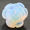 【天然石モチーフビーズ】薔薇 (立体) 10mm オブシディアンオパール【ローズ】【バラ】