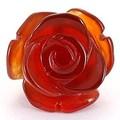 【天然石モチーフビーズ】薔薇 (立体) 12mm レッドメノウ【ローズ】【バラ】