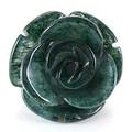 【天然石モチーフビーズ】薔薇 (立体) 12mm モスグリーンアゲート【ローズ】【バラ】
