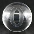 【天然石彫刻ビーズ】水晶 8mm (素彫り) 数字「0」【天然石 パワーストーン】