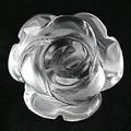 【天然石モチーフビーズ】薔薇 (立体) 12mm 水晶【ローズ】【バラ】