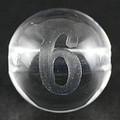 【天然石彫刻ビーズ】水晶 8mm (素彫り) 数字「6」【天然石 パワーストーン】