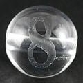 【天然石彫刻ビーズ】水晶 8mm (素彫り) 数字「8」【天然石 パワーストーン】