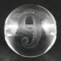 【天然石彫刻ビーズ】水晶 8mm (素彫り) 数字「9」【天然石 パワーストーン】