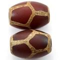 【天然石天珠ビーズ】老天珠1.4cm 亀甲【天然石 パワーストーン】
