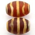 【天然石天珠ビーズ】老天珠1.4cm 水紋【天然石 パワーストーン】