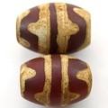 【天然石天珠ビーズ】老天珠1.4cm 双虎牙【天然石 パワーストーン】