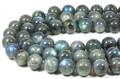 【天然石丸ビーズ】ラブラドライト(3A) 12mm【天然石 パワーストーン】
