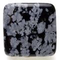 【天然石モチーフビーズ】四角形 スノーフレイク【天然石 パワーストーン】