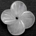 【天然石モチーフビーズ】四枚花 ホワイトジェード【天然石 パワーストーン】