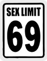import mini sticker  GS-023 Sex limit 69  【mini】