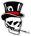 import mini sticker  GS-002 Smoking skull_right  【mini】