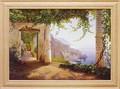 カール フレデリック  アーガード アートフレーム【アマルフィーの景色】風景画<樹脂フレーム>
