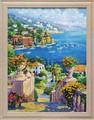 ジュリアン アスキンス アートフレーム【海の見える景色】風景画<樹脂フレーム>