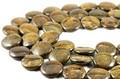 【天然石カットビーズ】ブロンザイト コイン型 20mm (数量限定商品)【天然石 パワーストーン】