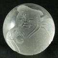 【天然石彫刻ビーズ】水晶 20mm (素彫り) 七福神「大黒天」【天然石 パワーストーン】