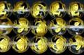 【天然石彫刻ビーズ】水晶 10mm (金彫り) 玄武 (一連売り)【天然石 パワーストーン】