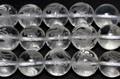【天然石彫刻ビーズ】水晶 10mm (素彫り) 朱雀 (一連売り)【天然石 パワーストーン】