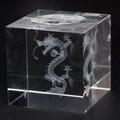 【店舗備品】クリスタルガラス玉台M 立ち龍【天然石 パワーストーン】