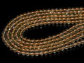 【天然石丸ビーズ】天然シトリンクォーツ(オレンジカラー) (天然) 6mm【天然石 パワーストーン】