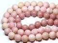 【天然石丸ビーズ】オパール(ピンク) (2A) 14mm【天然石 パワーストーン】