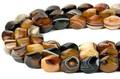 【天然石カットビーズ】ブラックサードオニキス ウェーブ型 約12x14mm【天然石 パワーストーン】