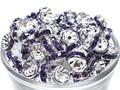 【パーツ】カラーロンデル 薄紫(P-3) [100個セット]【天然石 パワーストーン】