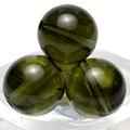 【天然石丸ビーズ】モルダバイト 約10mm 1粒売り【天然石 パワーストーン】