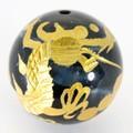 【天然石彫刻ビーズ】タイガーアイ 16mm (金彫り) 五爪龍【天然石 パワーストーン】