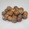 【天然石片穴パーツ】10mm レオパードスキン【天然石 パワーストーン】