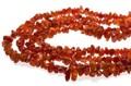 【天然石さざれビーズ】カーネリアン 赤タイプ (大粒) 40cm【天然石 パワーストーン】