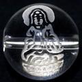 【天然石彫刻ビーズ】水晶 12mm (素彫り) 観音様(サンドブラスト)【天然石 パワーストーン】