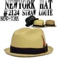 【春夏新作】人気のパイピングベルトストロー♪ NEWYOK HAT #2124 STRAW LOUIE 12146