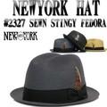 ★3サイズ展開♪【ニューヨークハット】#2327 SEWN STINGY FEDORA 12380