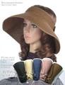 定番★リボン付き帽子、折りたためるサンバイザー、5色!