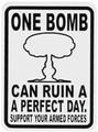 ステッカーNo,109 ONE BOMB 輸入 スタンダード
