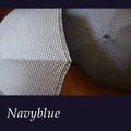 【5柄展開】《Navyblueシリーズ》新柄2柄追加☆ディテールにこだわった、おしゃれな折りたたみ傘☆