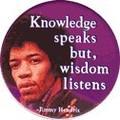 NO. BC-049 Knowledge speaks(ジミー・ヘンドリックス) 輸入アメリカン雑貨メッセージ 缶バッジ