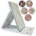 【SALE】【ロマンティックな花柄】便利な折り畳みミラー