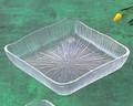 《日本製》なぎさ 角型(角盛皿)【ガラス 皿】【ガラス プレート】